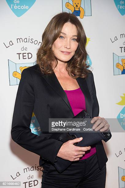 Carla BruniSarkozy attends the Autism Charity Gala by 'Sur Les Bancs de L'Ecole' Association at Pavillon Gabriel on November 7 2016 in Paris France