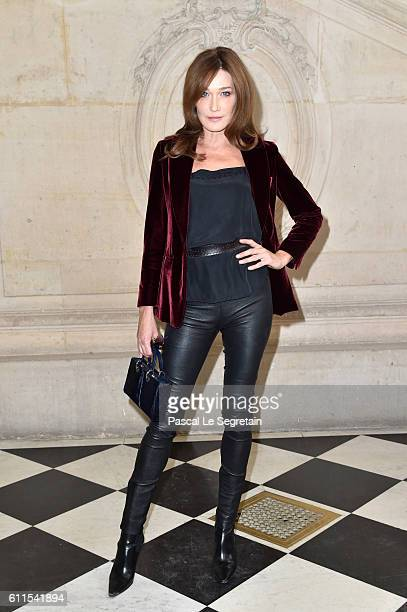 Carla BruniSarkozy attends the Christian Dior show of the Paris Fashion Week Womenswear Spring/Summer 2017 on September 30 2016 in Paris France