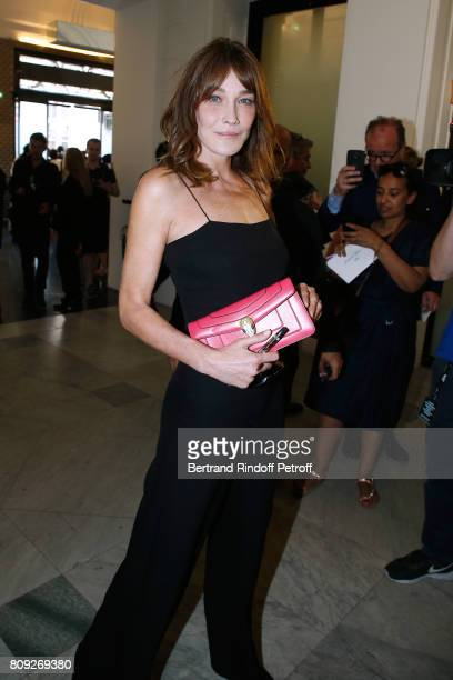 Carla BruniSarkozy attends the Jean Paul Gaultier Haute Couture Fall/Winter 20172018 show as part of Haute Couture Paris Fashion Week on July 5 2017...