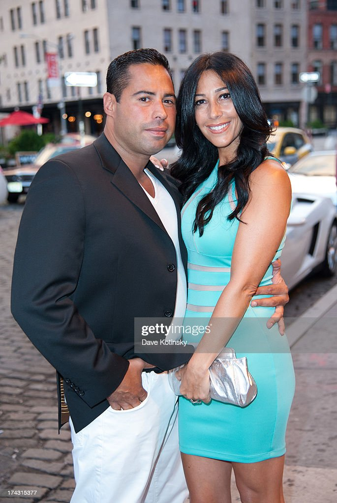Carla Facciolo and Husband Joseph Ferragamo attend 'G-Thing' Series Premiere Party at The Griffin on July 23, 2013 in New York City.