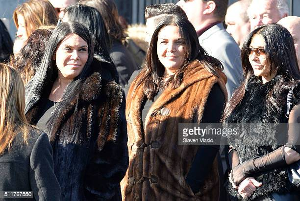 Carla Facciolo Renee Graziano and family attend the Funeral Service held for Angela 'Big Ang' Raiola on February 22 2016 in New York City 'Mob Wives'...