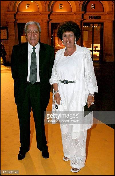 Carla Fendi and her husband Candido Speroni Dinner at the Fendi Palazzo in Rome for the launch of the new perfume 'Palazzo'