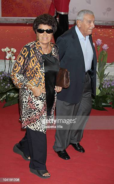 Carla Fendi and husband attend 'Eat Pray Love' Premiere at The Space Moderno Cinema on September 16 2010 in Rome Italy