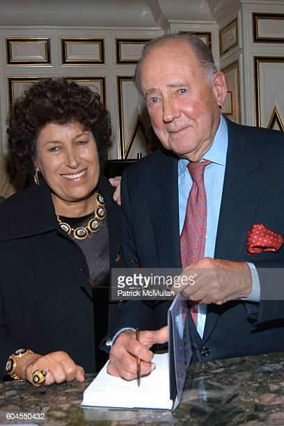 Carla Fendi and Ira Neimark attend Ira Neimark's Book Launch 'CROSSING FIFTH AVENUE To Bergdorf Goodman' at Bergdorf Goodman on November 6 2006 in...