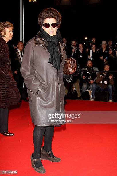 Carla Fendi attend the Extreme Beauty In Vogue party at the Palazzina della Ragione during Milan Fashion Week Autumn/Winter 2009 on March 2 2009 in...