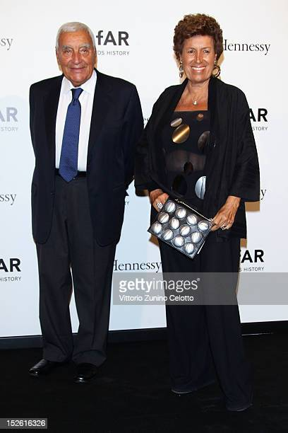 Carla Fendi attends amfAR Milano 2012 during Milan Fashion Week at La Permanente on September 22 2012 in Milan Italy