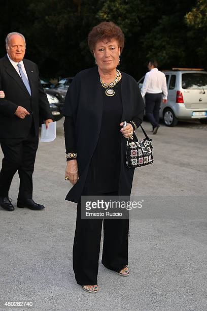 Carla Fendi attends Coulture/Sculpture Vernissage Cocktail honoring Azzedine Alaia in the history of fashion at Galleria Borghese at Galleria...