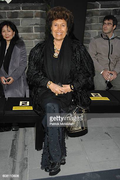 Carla Fendi attends FENDI Great Wall Of China Fashion Show Front Row and Runway at The Great Wall of China on October 19 2007 in Beijing China