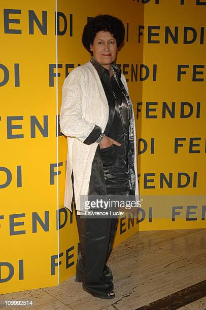 Carla Fendi during Fendi 80th Anniversary All Hallow's Eve Party Hosted by Karl Lagerfeld at 25 Broadway in New York City New York United States