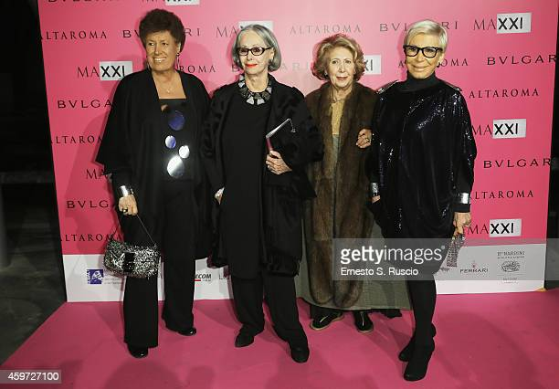Carla Fendi Paola Fendi Franca Fendi and Anna Fendi attend the MAXXI Gala Dinner photocall at Maxxi Museum on November 29 2014 in Rome Italy