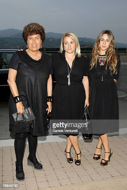 Carla Fendi Silvia Fendi and Delfina attends the 'Why Africa' exhibition opening At the Pinacoteca Giovanni E Marella Agnelli on October 5 2007 in...