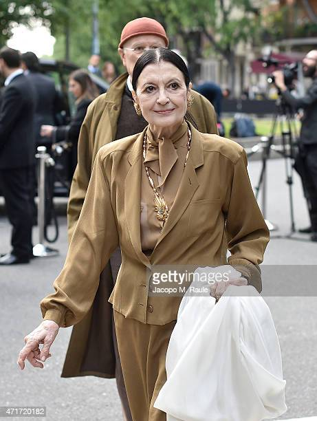 Carla Fracci attends the Giorgio Armani 40th Anniversary Silos Opening And Cocktail Reception on April 30 2015 in Milan Italy