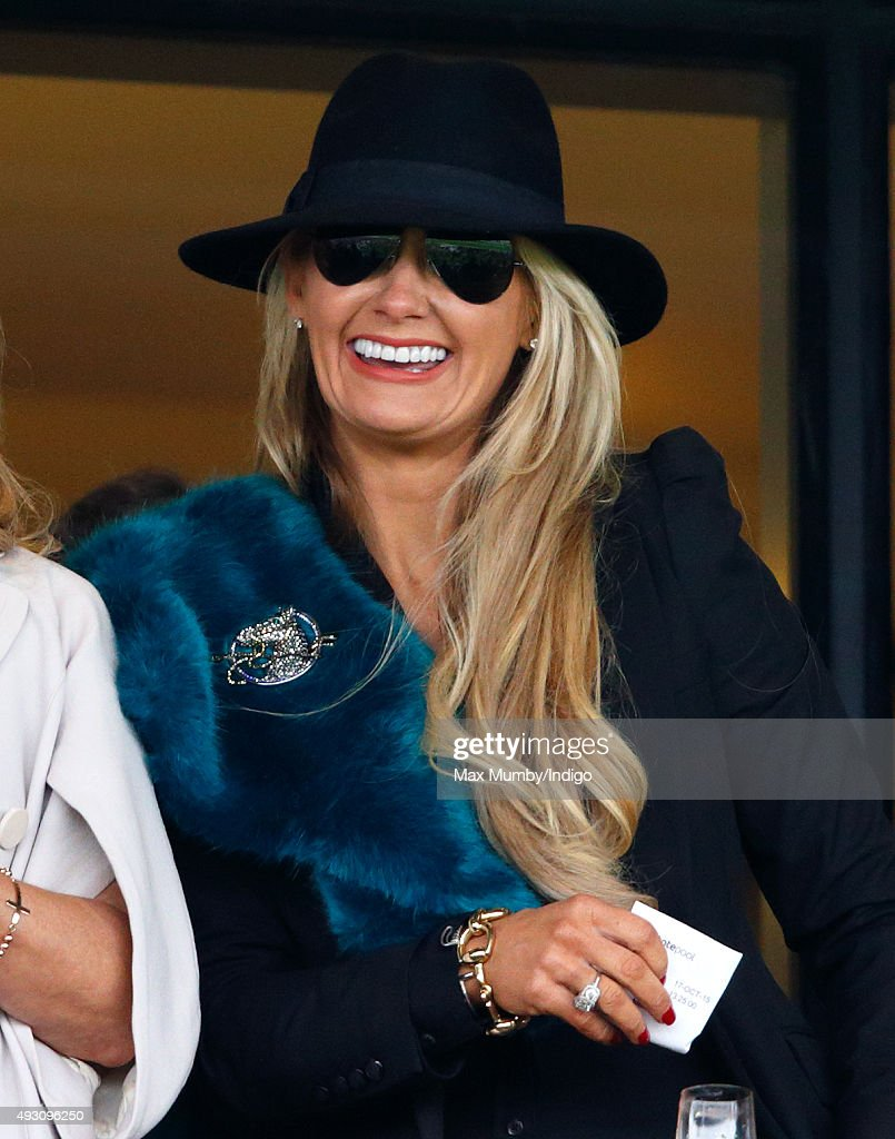 Carla Germaine attends the QIPCO British Champions Day racing meet at Ascot Racecourse on October 17, 2015 in Ascot, England.