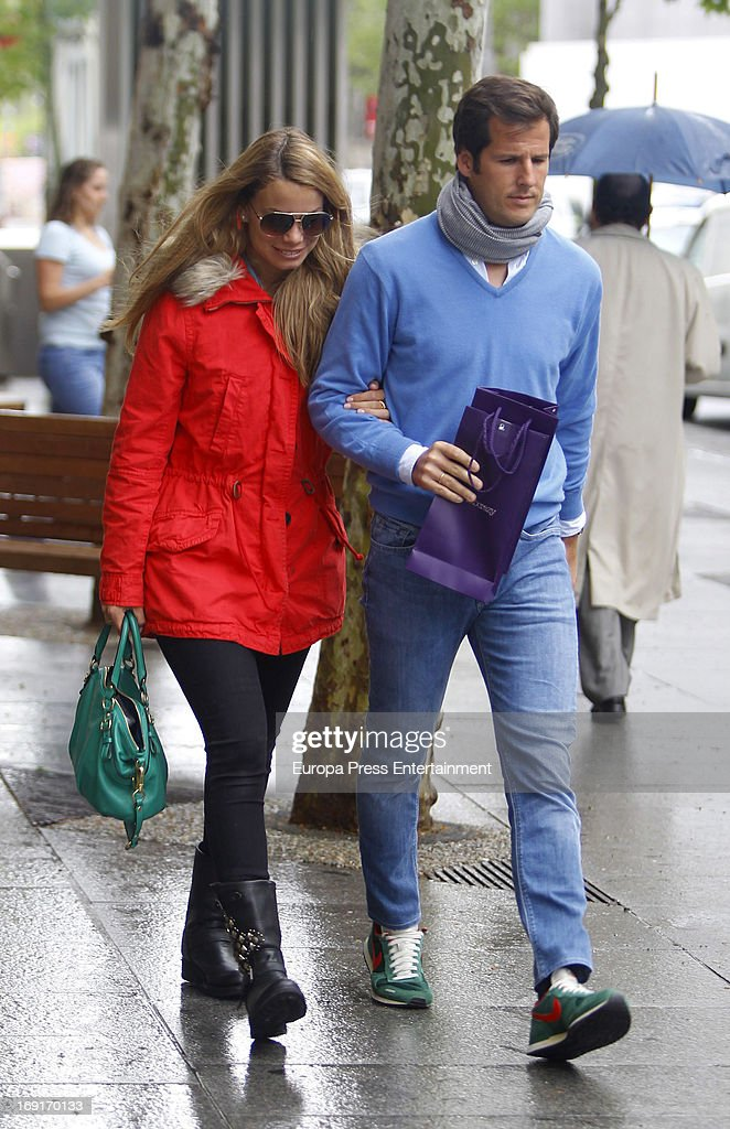 Carla Goyanes and Jorge Benguria are seen on April 29 2013 in Madrid Spain
