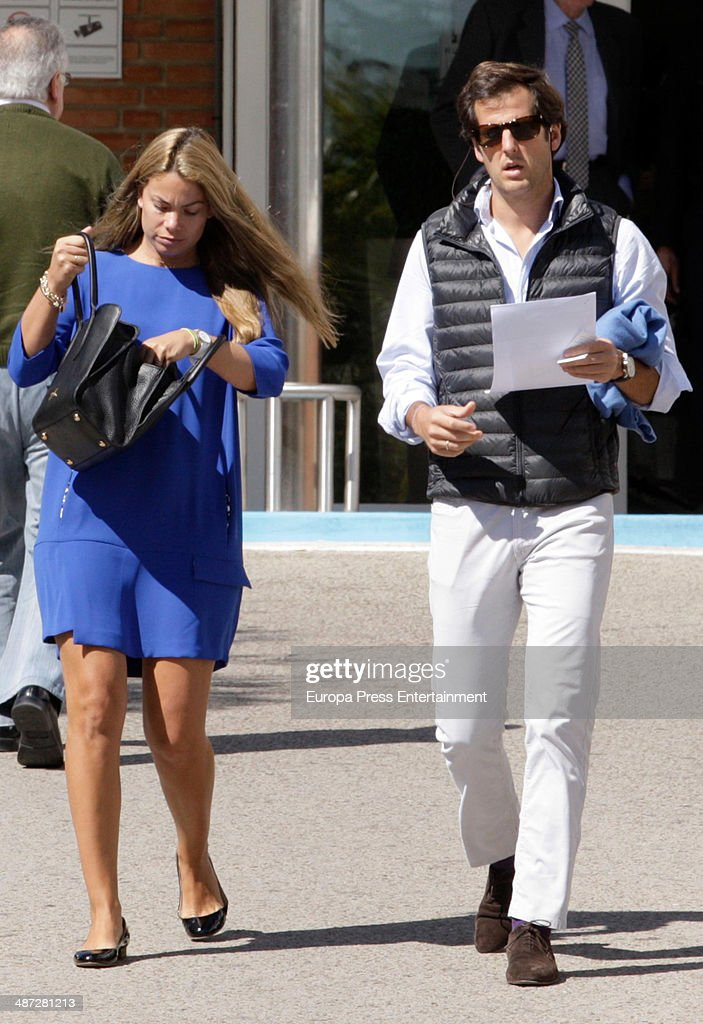 Carla Goyanes and Jorge Benguria are seen on April 7 2014 in Madrid Spain