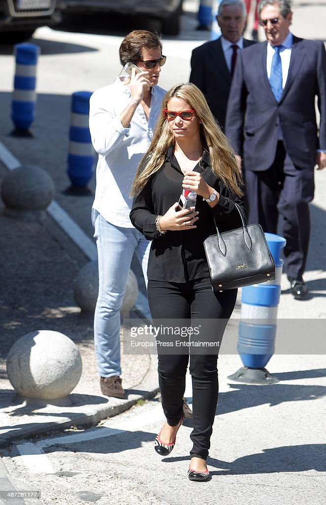 Carla Goyanes and Jorge Benguria are seen on April 8 2014 in Madrid Spain