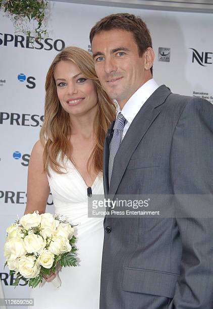 Carla Goyanes and Tommy Robredo attend a Nespresso 'Gastronomical Wedding' during the 59th Trofeo Conde de Godo at the Real Club de Tenis de...