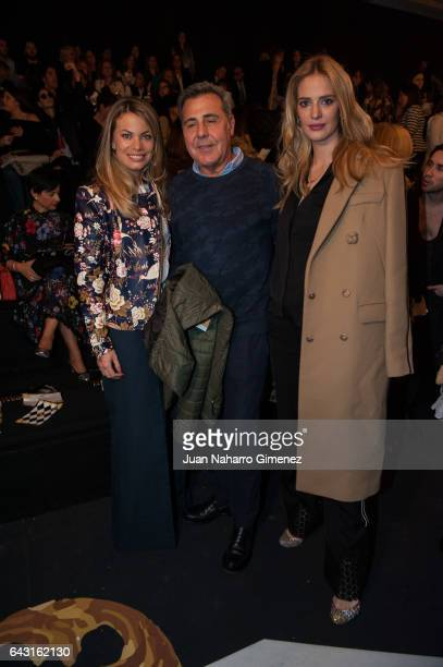 Carla Goyanes Angel Schlesser and Teresa Baca attends the front row of Jorge Vazquez show during Mercedes Benz Fashion Week Madrid Autumn / Winter...