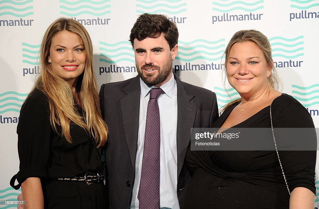 Carla Goyanes, Antonio Matos and Caritina Goyanes attend the Blue Night by Pullmantur at Neptuno Palace on February 28, 2013 in Madrid, Spain.