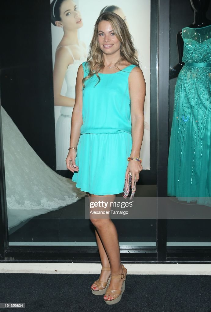 Carla Goyanes attends the grand opening of Rosa Clara store on March 22, 2013 in Coral Gables, Florida.