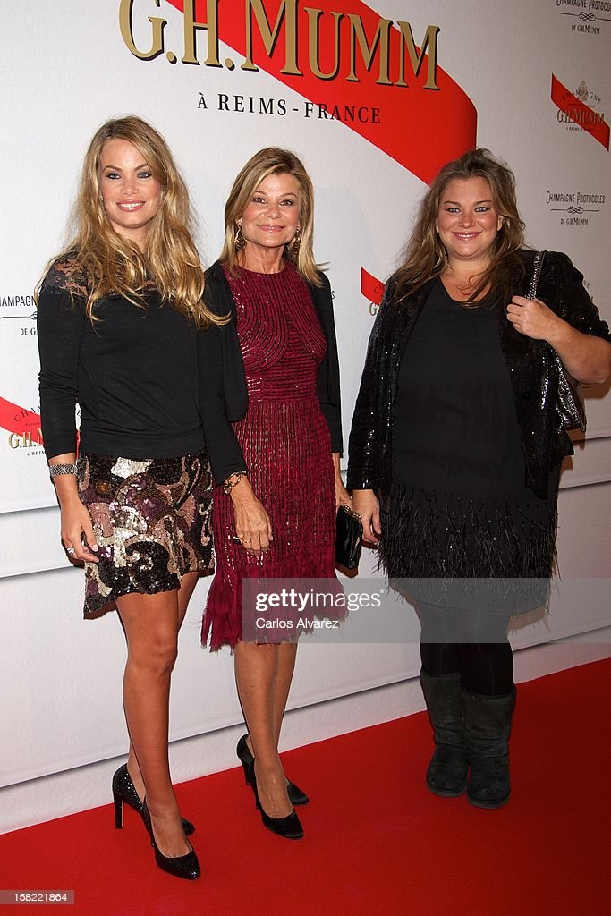 Carla Goyanes Cari Lapique and Caritina Goyanes attend the 'Maison Mumm' inauguration at the Santo Mauro Hotel on December 11 2012 in Madrid Spain