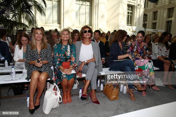 Carla Goyanes Cari Lapique Naty Abascal Maribel Yebenes Nuria Gonzalez and Eugenia Silva attend 'The Petite Fashion Week' Photocall at Cibeles Palace...