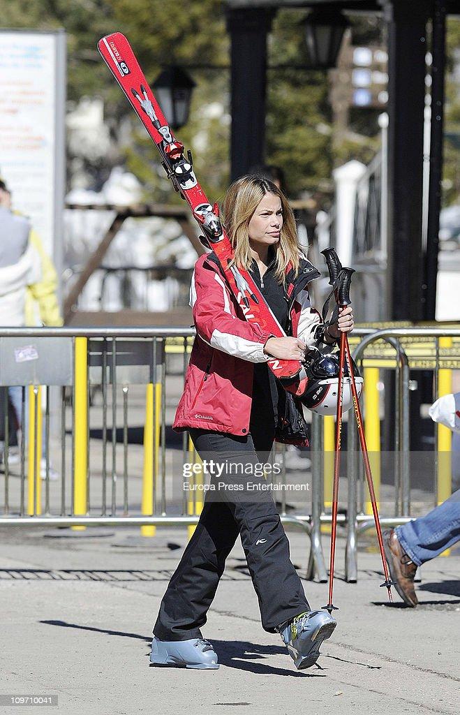 Carla Goyanes is seen at Sierra Nevada Ski Resport on March 1 2011 in Granada Spain