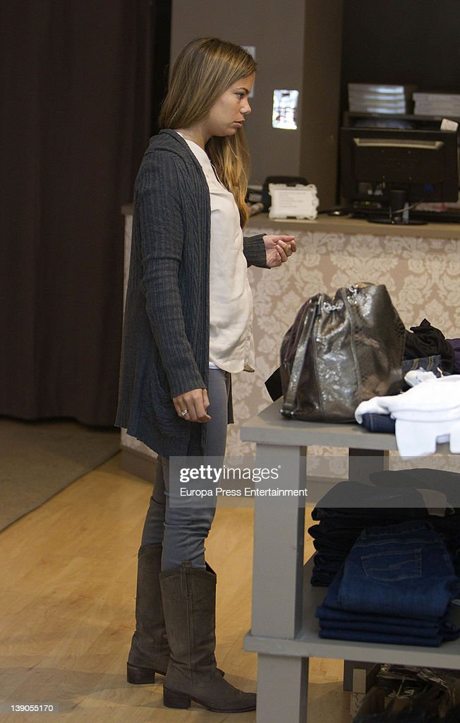 Carla Goyanes is seen going for shopping on February 15 2012 in Madrid Spain