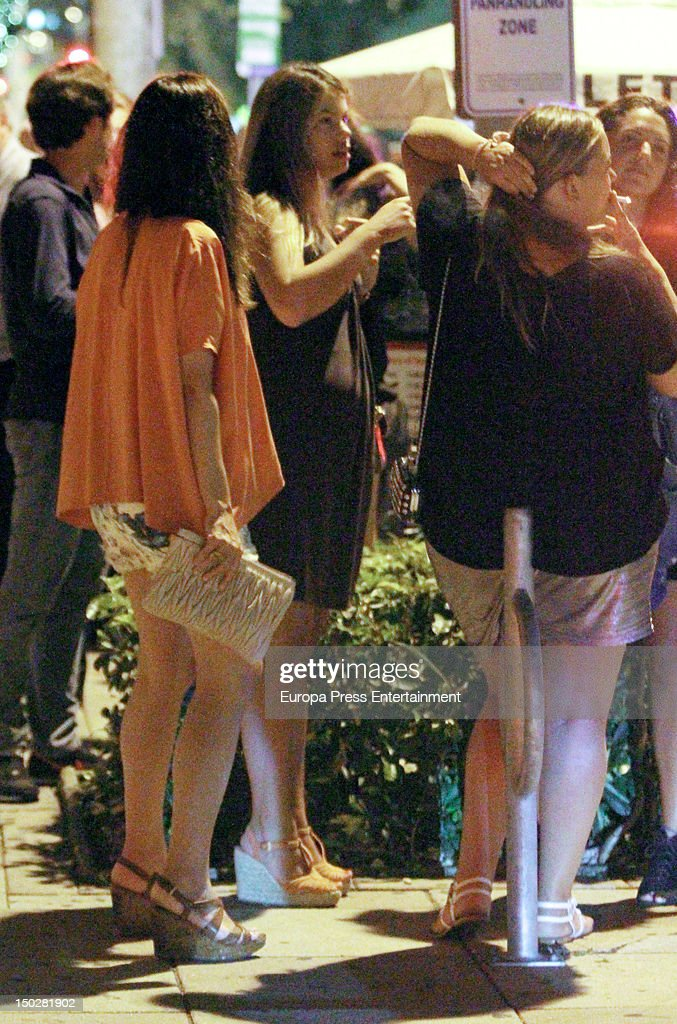 Carla Goyanes Jorge Benguria and Caritina Goyanes are seen on August 4 2012 in Miami Florida