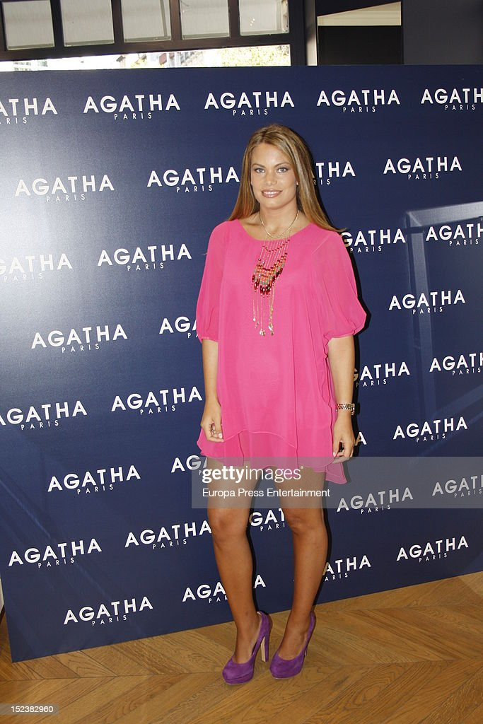 Carla Goyanes Presents 'Agatha Paris New Collection' on September 14 2012 in Madrid Spain