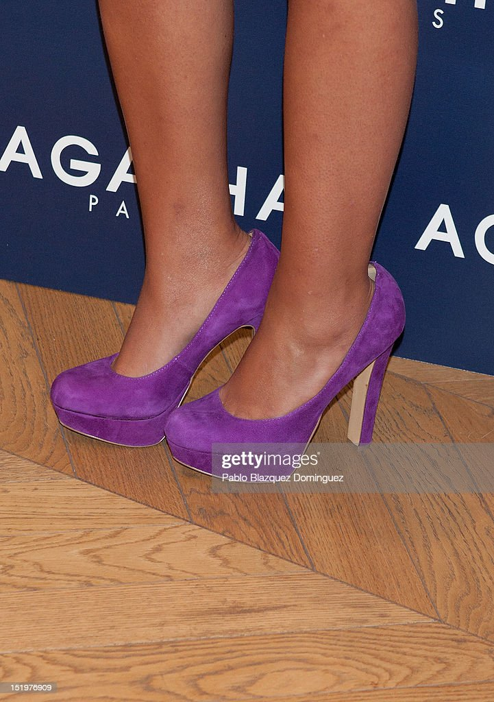 Carla Goyanes presents the 'Agatha Paris' new collection at Agatha Paris Store on September 14 2012 in Madrid Spain