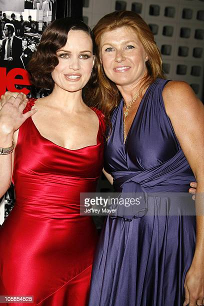 Carla Gugino and Connie Britton during 'Entourage' Third Season Premiere Arrivals at The Cinerama Dome in Hollywood California United States