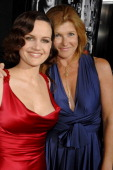 Carla Gugino and Connie Britton during 'Entourage' Third Season Premiere in Los Angeles Red Carpet at The Cinerama Dome in Los Angeles California...