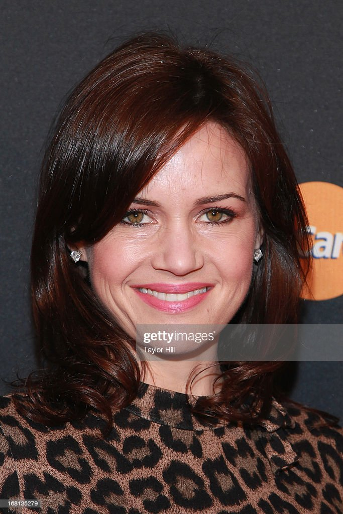 Carla Gugino arrives at MasterCard Priceless Premieres presents Justin Timberlake at Roseland Ballroom on May 5, 2013 in New York City.