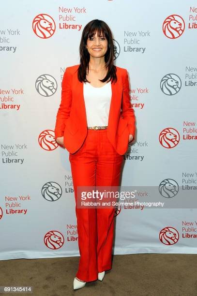 Carla Gugino attends the 2017 NYPL Young Lions Fiction Award at The New York Public Library Stephen A Schwarzman Building on June 1 2017 in New York...