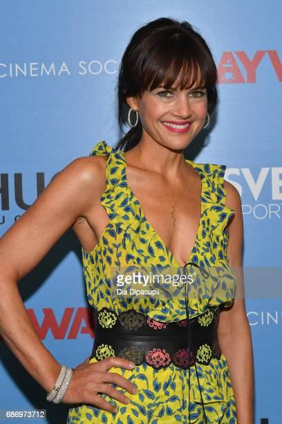 Carla Gugino attends The Cinema Society's Screening Of 'Baywatch' at Landmark Sunshine Cinema on May 22 2017 in New York City