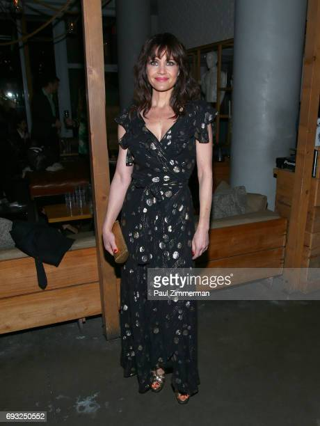 Carla Gugino attends the Gucci The Cinema Society after party of Roadside Attractions' 'Beatriz At Dinner' at Mr Purple on June 6 2017 in New York...