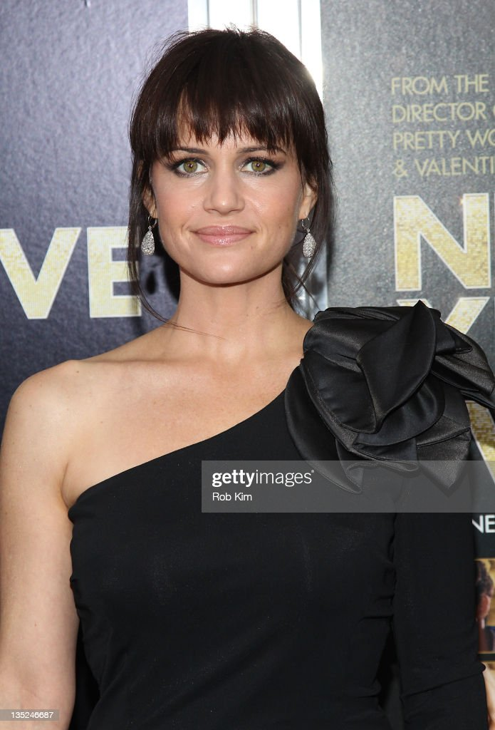 Carla Gugino attends the 'New Year's Eve' premiere at the Ziegfeld Theatre on December 7, 2011 in New York City.