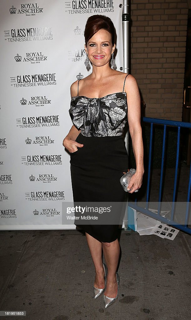 Carla Gugino attends the Opening Night of 'The Glass Menagerie' at Booth Theater on September 26 2013 in New York City