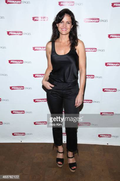 Carla Gugino attends the 'Poor Behavior' Opening Night after party at Casa Nonna on August 17 2014 in New York City