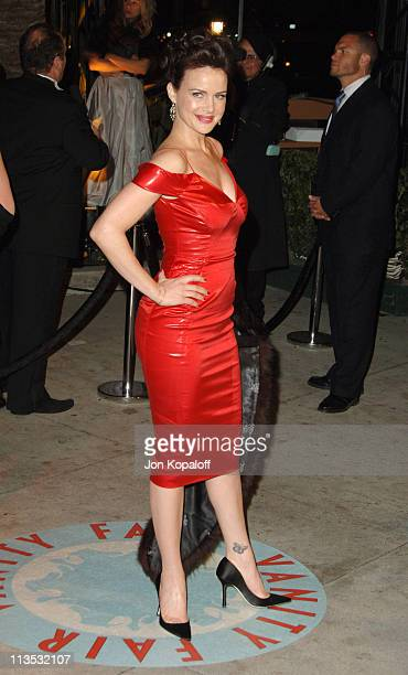 Carla Gugino during 2006 Vanity Fair Oscar Party at Morton's in West Hollywood California United States
