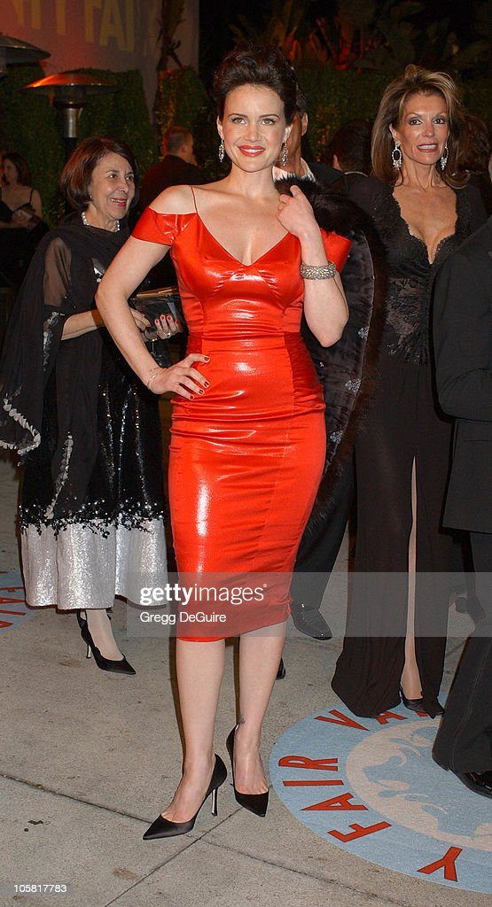 Carla Gugino during 2006 Vanity Fair Oscar Party Hosted by Graydon Carter Arrivals at Morton's in West Hollywood California United States