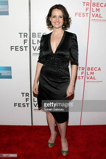 Carla Gugino during 6th Annual Tribeca Film Festival Premiere of 'Gardener Of Eden' Red Carpet Arrivals at BMCC Tribeca PAC at 199 Chambers Street in...
