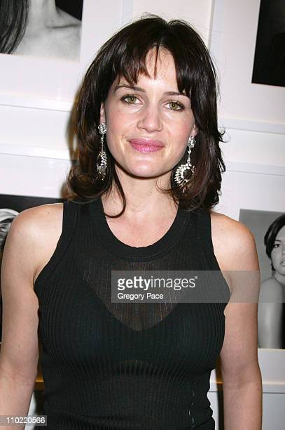 Carla Gugino during Calvin Klein Inc and Bryan Adams Host the Launch of His New Photography Book 'American Women' Inside the Party at The Calvin...
