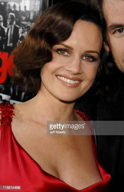 Carla Gugino during 'Entourage' Third Season Premiere in Los Angeles Red Carpet at The Cinerama Dome in Los Angeles California United States