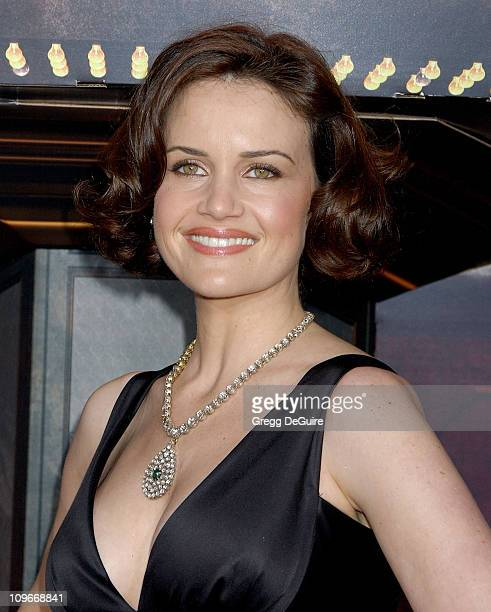 Carla Gugino during 'Grindhouse' Los Angeles Premiere Arrivals at The Orpheum Theatre in Los Angeles California United States