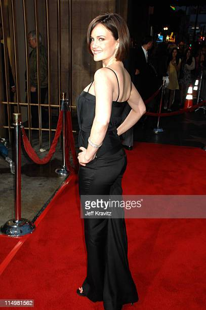 Carla Gugino during 'The Lookout' Los Angeles Premiere Red Carpet at Egyptian Theater in Hollywood California United States