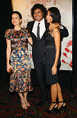 Carla Gugino M Night Shyamalan and Bhavna Vaswani attend the New York premiere of 'The Visit' at Regal Cinemas Union Square on September 8 2015 in...