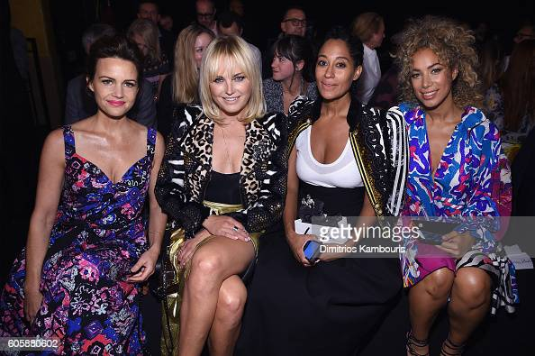 Carla Gugino Malin Ackerman Tracee Ellis Ross and Leona Lewis attends the Marc Jacobs Spring 2017 fashion show front row during New York Fashion Week...