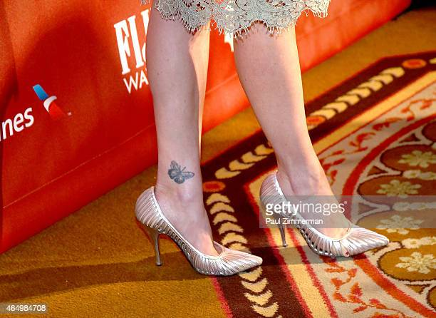 Carla Gugino shoe detail at Roundabout Theatre Company's 2015 Spring Gala Honoring Dame Helen Mirren sponsored by FIIJI water at the Grand Ballroom...
